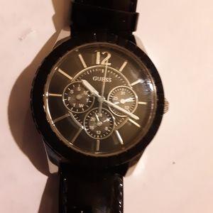 Black GUESS watch